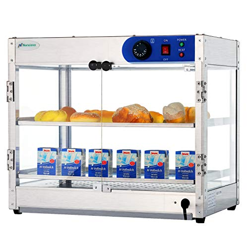 SUNCOO Commercial Countertop Hot Food Warmer Display Case Food Showcase for Restaurant Heated Cabinet Pizza Empanda Pastry Patty 24Lx20Wx20H