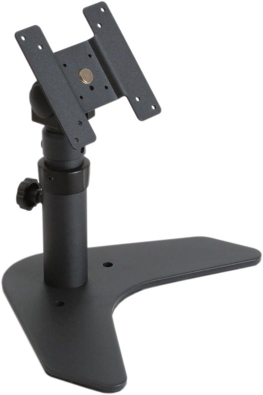 Single Monitor Adjustable Mount - Desktop LCD Stand - VESA 75/100 - Tilted Panned