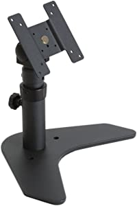 Single Monitor Adjustable Mount - Desktop LCD Stand - VESA 75/100 - Tilted Panned
