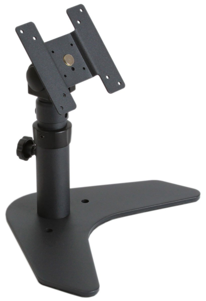 MonMount Single LCD Monitor VESA Desk Stand - Height Adjustable, Black (LCD-6410B)