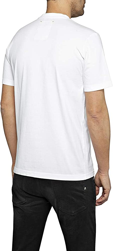 White Replay 2Pac Finger Salute Men/'s T-Shirt
