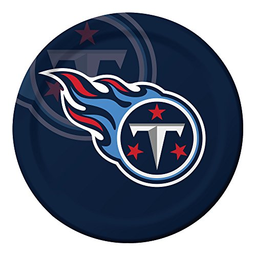 Creative Converting Officially Licensed NFL Dinner Paper Plates, 96-Count, Tennessee -
