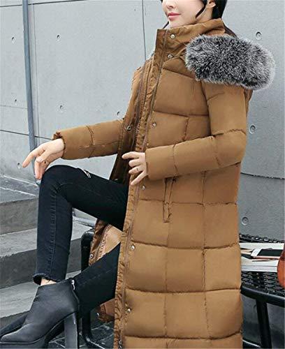 De Parka Fashion Manga Plumas Espesar Larga Termica Grande Con Bildfarbe Chaqueta Moda Pluma Lannister Invierno Piel Ropa Outdoor Mujer Talla Elegantes Capucha Largos 5PS5wq