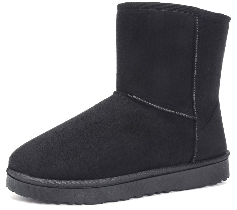 Mothernest Women's Boots Short Fashionable Winter Snow Boot Winter Outdoor Black by Mothernest