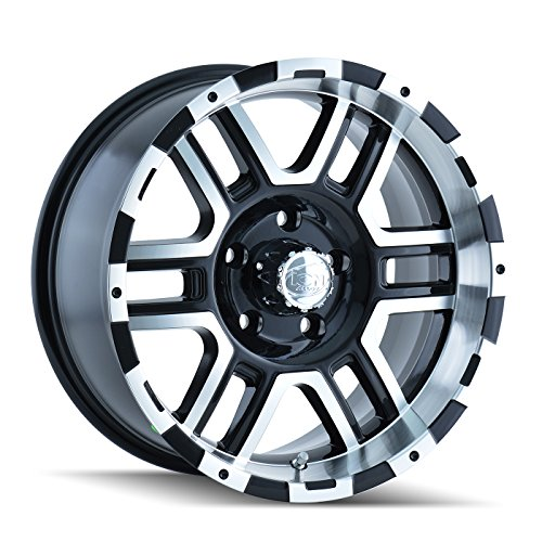 - Ion Alloy 179-6886B Style 179 Black Wheel with Machined Face/Lip (16x8