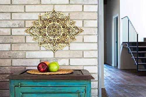 Mandala Wood Home Decor, Boho Ethnic Housewarming Wall Hanging, Morrocan Indian Wall Art, Sacred Geometry Yoga Studio, Unique Handmade Spiritual Gift by Tohar Wood Design (Image #4)