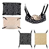 Polk Dot Polyester Rat Rabbit Chinchilla/Cat Cage Hammock Small Pet Dog Puppy Bed Cover Bag Blankets