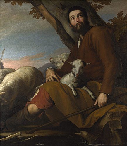 'Jusepe De Ribera Jacob With The Flock Of Laban ' Oil Painting, 16 X 18 Inch / 41 X 47 Cm ,printed On Polyster Canvas ,this Art Decorative Canvas Prints (Kc Jones Costume)