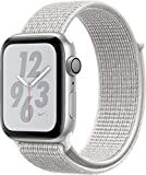 Apple Watch Series 4 (GPS only) Aluminum Case Compatible with iPhone 5s and Above (Nike+ Edition Silver Aluminum Case with Summit White Nike+ Sport Loop, 44mm)