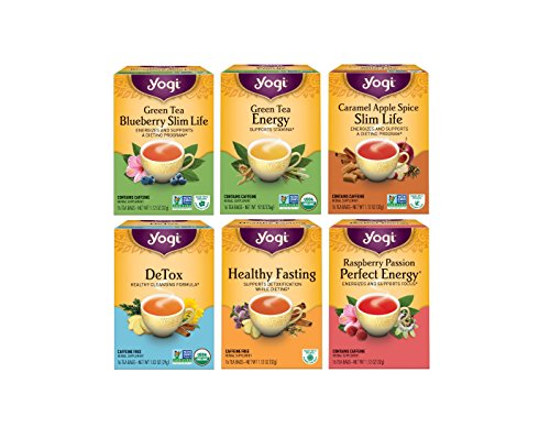 Weight Loss Tea Variety Pack - 6pk Of Herbal Organic Tea - Supports A Healthy Lifestyle