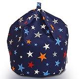 Textile Warehouse Large Space Explorer Stars Blue Kids Boys Childrens Cotton Beanbag Bean Bag Chair