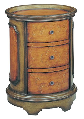 Stein World Furniture Natalie Accent Table, Antique Green, Brown (Stein Traditional World Table)