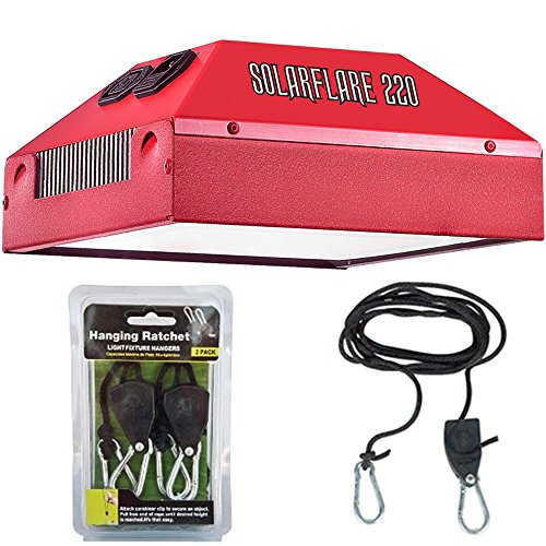 51Y1nBdP aL - California Light Works Solar Flare 220w LED Grow Light (Full Cycle) with Free Ratchet Hangers