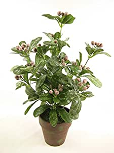 44cm en maceta artificial rojo planta artificial de bayas ~ artificiales