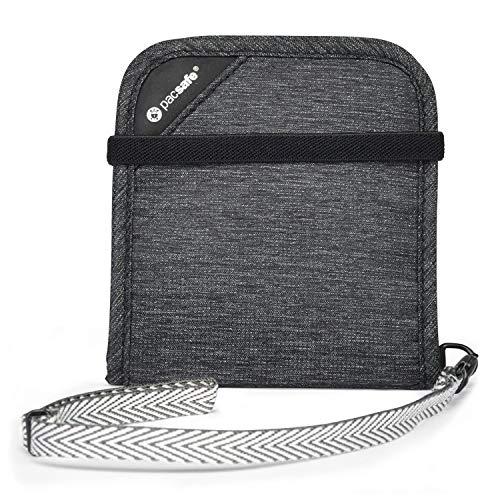 Pacsafe RFIDsafe V100 Anti-Theft RFID Blocking Bi-Fold Wallet, Granite Melange (Best Pacsafe Amazon Rfid Wallets)