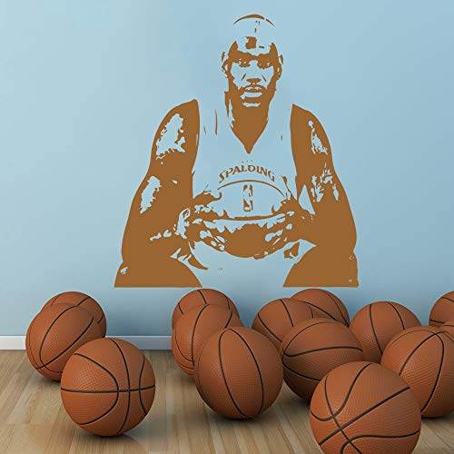 Large Basketball Home Decor Famous Player Jersey Stencil Cavaliers Cavs Cleveland King James Wall Sticker Wall Decal 114X128Cm