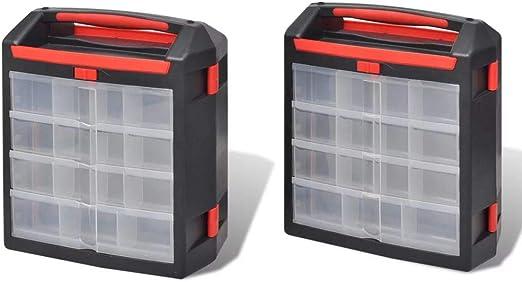 Nishore Caja Organizador de Herramientas, 2 Unidades, Cada Caja ...
