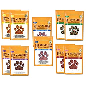 Pet Munchies Training Treats Mixed Pack of 10 – 2x Chicken + 2x Chicken & Liver + 2x Sushi + 2x Duck + 2x Venison – All…