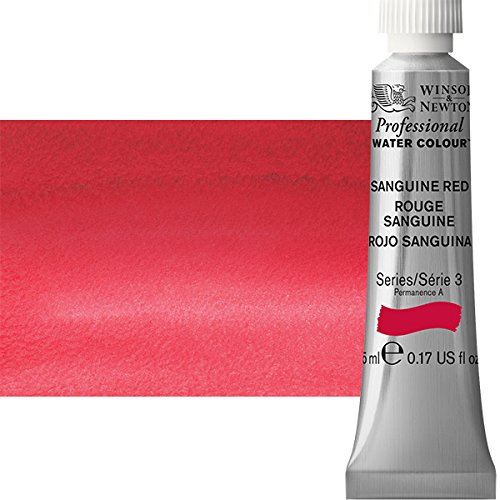 Tube Ml Red 5 (W&N Artist Watercolor, 5ml Tube, Sanguine Red)