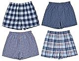Perry Ellis Boys' 4-Pack Woven Boxer Shorts (Medium / 10-12, Classic Assortment I)