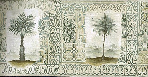Oriental Palm Trees Wallpaper Border