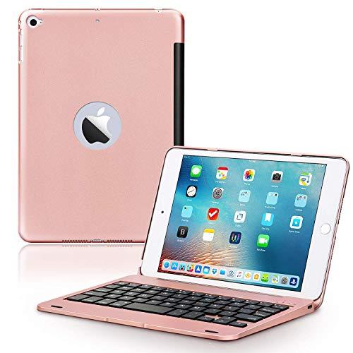 funda con teclado para ipad mini 4/5 rosa