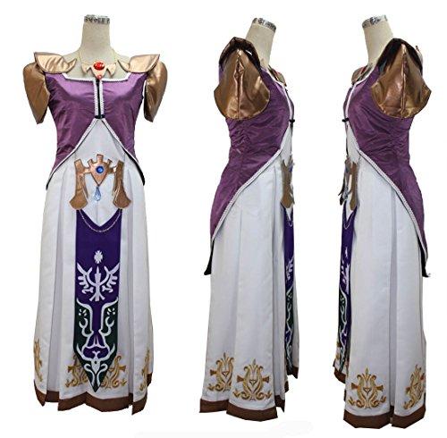 [makura Women's cos978 The Legend of Zelda Princess Zelda dress(XXXL)] (Princess Zelda Cosplay Costume)