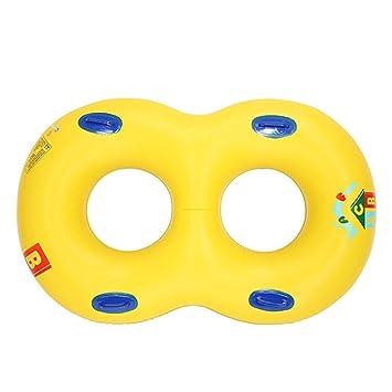 Sdkmah9 Flotador de natación para recién nacido, piscina, juguete flotante, doble asiento,