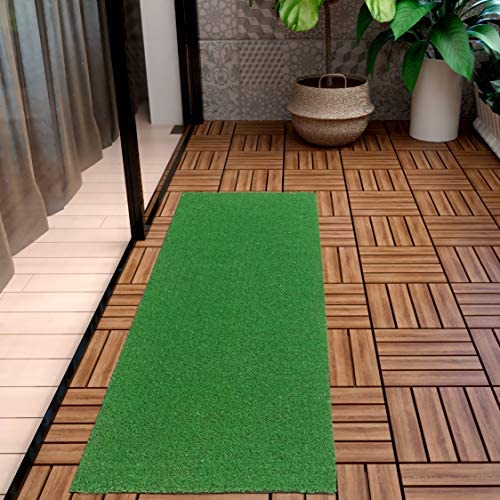 Ottomanson Evergreen Artificial Turf Runner Rug, 20 X59 , Green