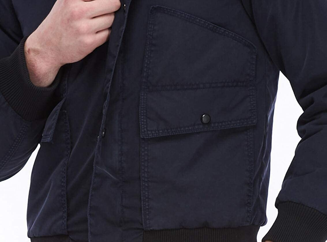 Jofemuho Mens Ma-1 Flight Puffer Warm Hooded Zipper Bomber Down Jacket Coat