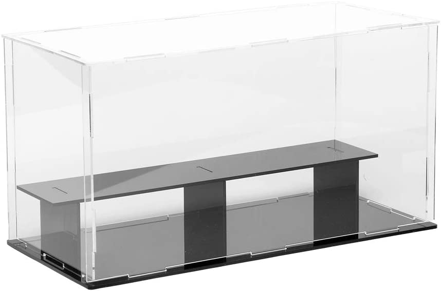 Lanscoe Clear Acrylic Display Case Countertop Box Cube Organizer Stand Dustproof Protection Showcase for Action Figures//Toys//Collectibles 4x4x4 Inch, 10x10x10 cm