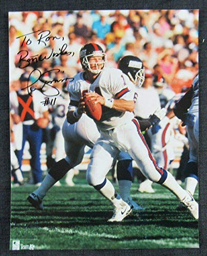 - Autographed Simms Picture - 8x10 II - Autographed NFL Photos