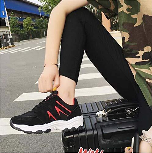 Vuelo Running Zapatillas Mujer Senderismo Al amp;yg Casuales Zapatos Casual Blackred Para Deportivos Miss Deportes Aire De Libre qw7yOZxWT