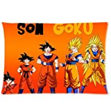 Hot anime manga Dragon Ball Z Super Saiyan Man Son Goku Gohan Vegeta Trunks unique pillow case customized Zippered pillowcases 20x30 (Twin sides) inches Throw Cushion Popular cotton durable DIY cover creative gift Personalized retro cute