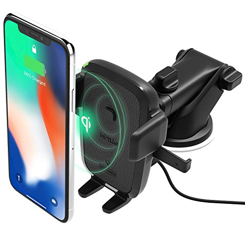 iOttie Easy One Touch Wireless Qi Fast Charge Car Mount Kit || Fast Charge: Samsung Galaxy S10 S9 Plus S8 S7 Edge Note 8 5 | Standard Charge: iPhone X 8 Plus & Qi Enabled Devices | + Dual Car Charger