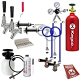 pressurized beer line cleaner - Kegco Ultimate Door Mount Kegerator 2 Tap Conversion Kit w/ 5 lbs Tank - EBUCK2-5T