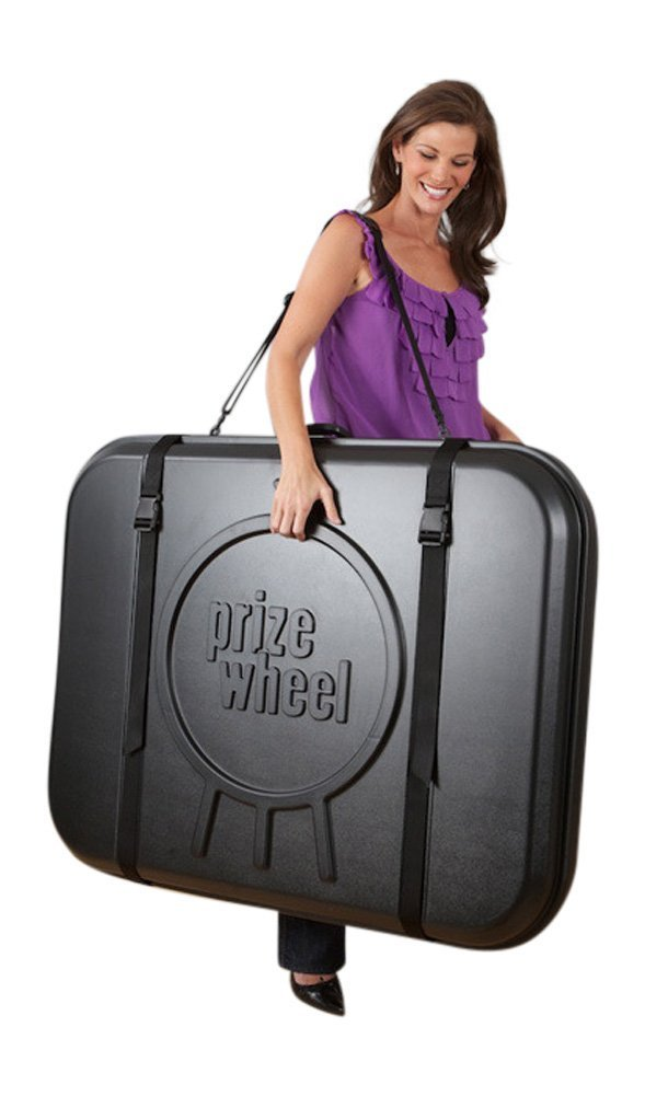 Marketing Holders 31 Inch Prize Wheel Carring Case Heavy Duty With Strap Travel Case