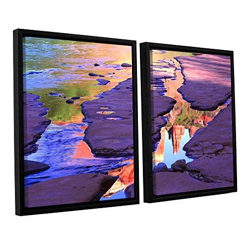 ArtWall Dean Uhlinger 2 Piece Oak Creek Mirror Floater, used for sale  Delivered anywhere in Canada