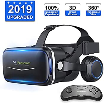 be949ddb112f   2019 New Version   Upgraded   Lightweight Virtual Reality Headset with  Stereo Headphone