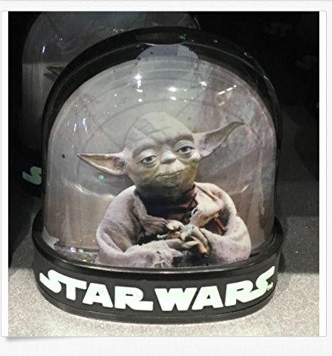 Disney Parks Star Wars Darth Vader Yoda 2 Side Plastic Snowglobe Water Dome ()
