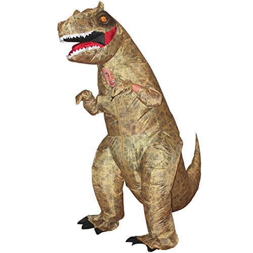 Last Minute Sports Halloween Costumes (Morphsuits Giant T-Rex Inflatable Kids Costume, One Size)