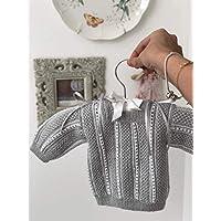 Chambrita de bebé gris/regalo recién nacido/ropita de bebé/babyshower/bautizo/niño/niña