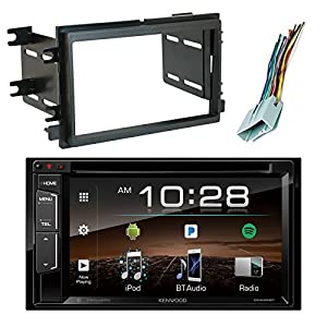 "Kenwood DDX25BT 6.2"" In-Dash DVD Bluetooth Double-DIN Sirius-XM-Ready Car Audio Receiver, Scosche FD1426B Dash Kit Install Kit, w/FD23B Radio Wire Harness (2004-Up Select Ford)"