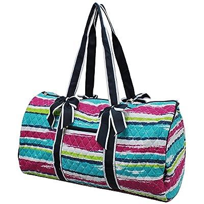 25b107291592 Rainbow Stripes NGIL Large Quilted Duffle Bag high-quality - xn ...