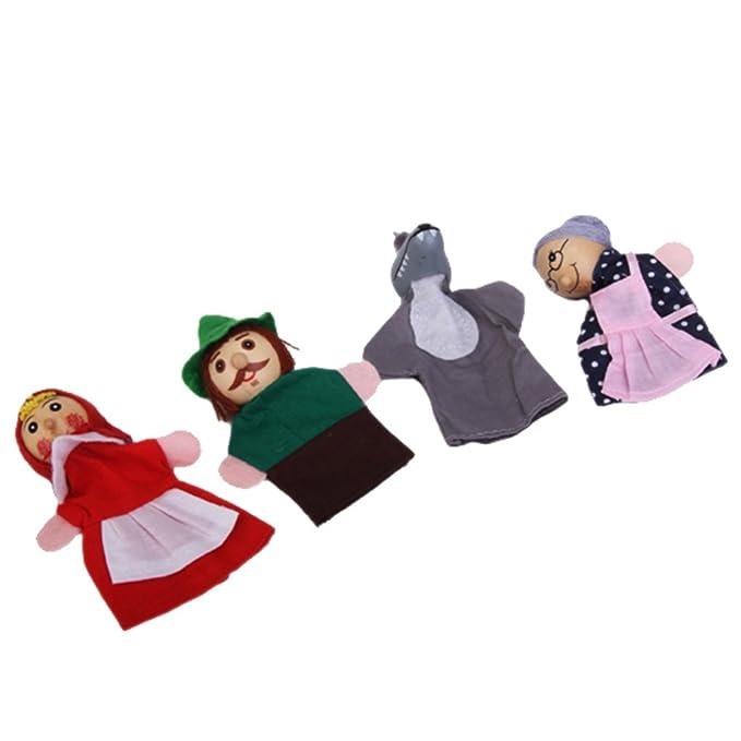 1 opinioni per Un Set Di 4 Pezzi Piccoli Di Guida Rosso Marionette Da Dito Cappa Giocattolo