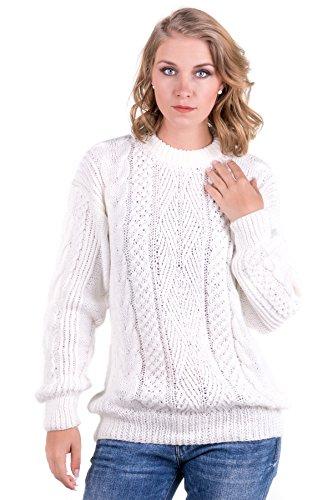Gamboa - Hand-Knit Alpaca Sweater - Stylish Sweater for Women - White