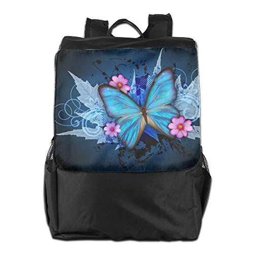 Butterfly Clipart - Summer Moon Fire Outdoor Backpacks Butterfly Clip Art Bookbag Polyester Multifunction Youth