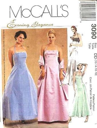 Unbekannt McCall \'s Schnittmuster 3090 Größe 12–18 Abendkleid ...