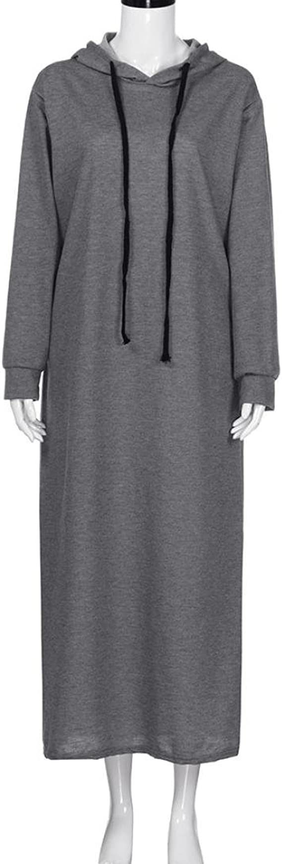 Kleider,Frashing Damen Pullover Lang Hoodie Sweatshirt Kleid Herbst Bodycon Top Maxi Kleid Lange Hülsen mit Kapuze Damen beiläufige Hoodies Lange