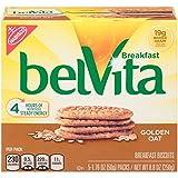belVita Golden Oat Breakfast Biscuits, 5 Count Box, 8.8 Ounce (Pack of 6)